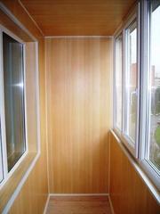 Внутренняя отделка балконов,  лоджий