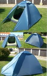 Палатка трехместная,  150 х 200 х 140см. новая