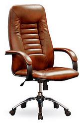 Сенатор-2 бордовая натуральная кожа,  Кресло руководителя.