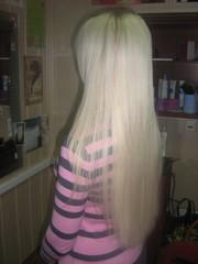 Наращивание волос (Трессово – Косичным способом, )