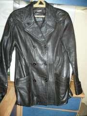 Куртка-пиджак кожаная,  темно-коричневая,  р-р 46-48