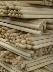 Черенки для метлы, швабры, лопаты и ручки деревянные для инструментов