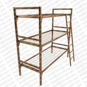 Кровати металлические трехъярусные для пансионатов,  кровати дешево, опт