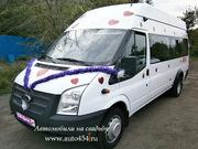 Заказ автобуса Форд Транзит на свадьбу