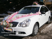Заказ белая Ниссан Альмера на свадьбу