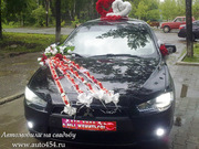 Черный Mitsubishi Lancer на свадьбу