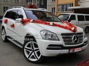 Белый внедорожник Mercedes GL 500 AMG на заказ