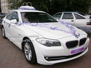 Белая БМВ 520 на свадьбу Челябинск