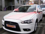 Белый Mitsubishi Lancer X для свадеб