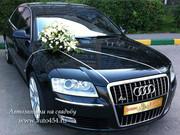 Черная Ауди А8L,  авто к свадьбе