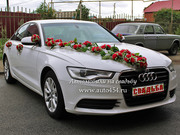 Белая Audi A6 на свадьбу
