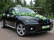 Черная БМВ Х6 на свадьбу