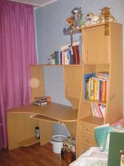 Ученический стол со шкафом б/у