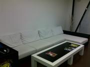 новый диван из белой кожи 4х2м  компании Аллант недорого